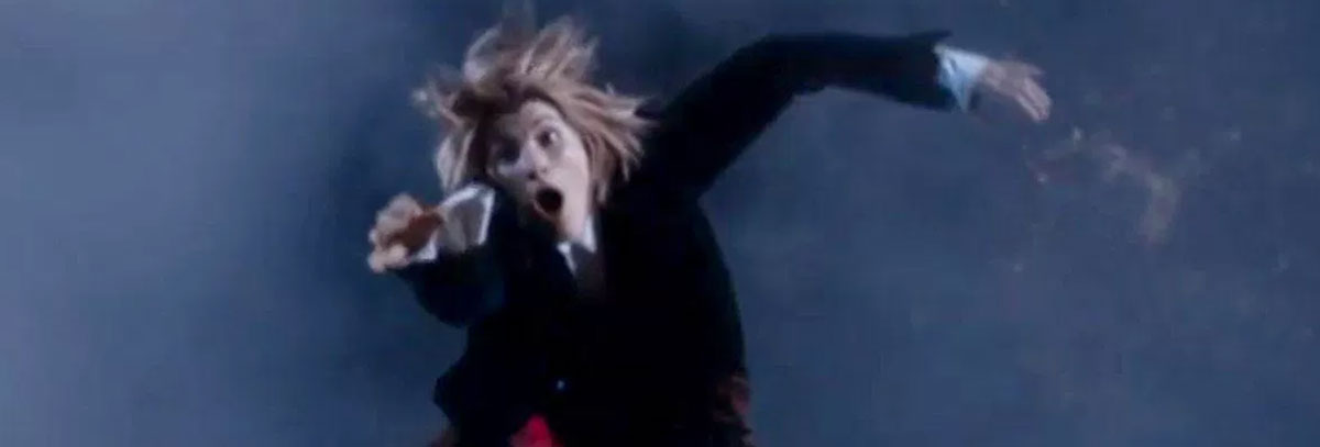 Jodie Whittaker Thirteenth Doctor Who falling