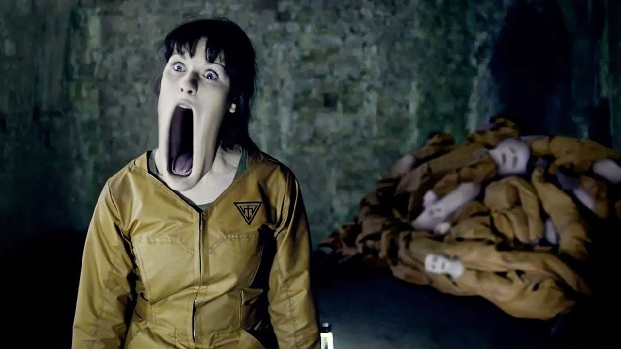 A Ganger yawns during The Almost People Doctor Who